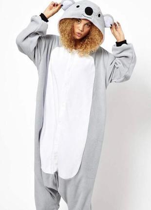 Кигуруми пижама цельная коала пижамка теплая плюшевая