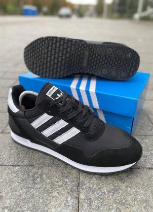 Черные замшевые мужские кроссовки adidas zx 700 , чоловічі кросівки