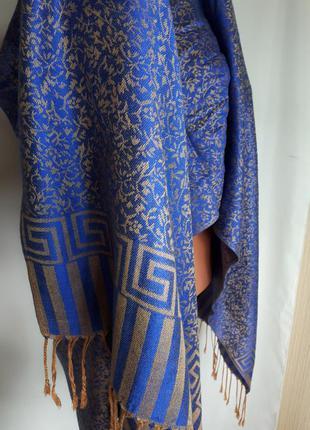 Широкий палантин шарф pashmina 100% ( 70см на 180 см)
