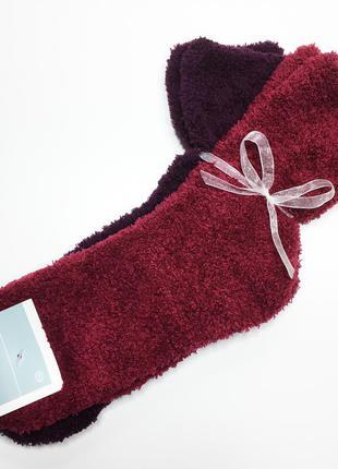 Набор 2 пары плюшевые мягкие теплые носки травка р.39/42 c&a германия