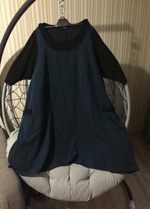 Красивое практичное платье с накладными карманами yours