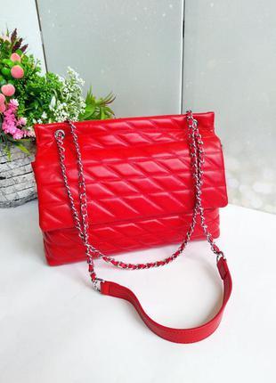 Кожаная сумка в классическом стиле