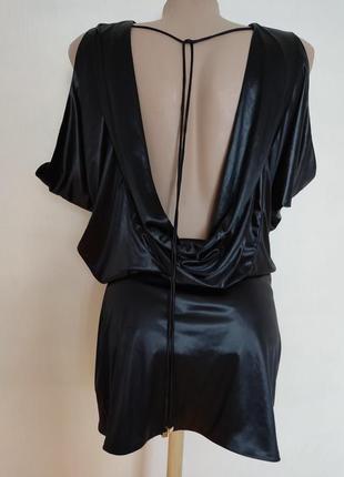 Дизайнерский подиумный топ блузон платье под кожус открытой спиной секси george rech