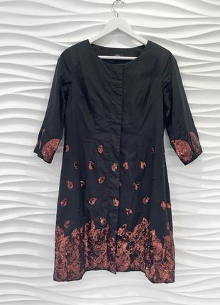 Платье пиджак с паьетуами