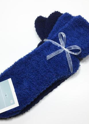 Набор 2 пары плюшевые мягкие теплые носки травка р.35-42 c&a германия
