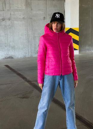 Куртка с капюшоном на силиконе