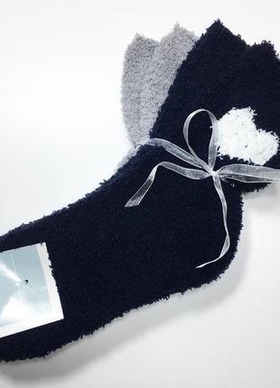 Набор 2 пары плюшевые мягкие теплые носки травка р.39-42 c&a германия
