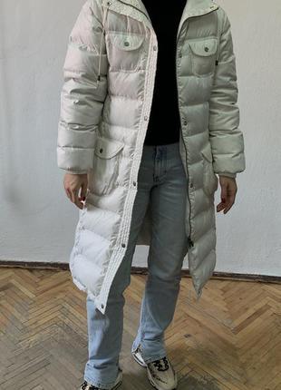 Adidas длинный пуховик