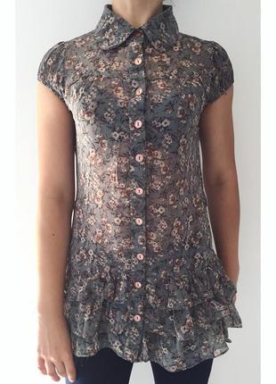 Блуза, туніка, полупрозрачная блуза.