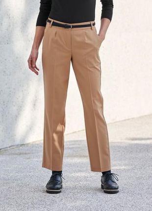 Бежевые брюки в большом размере