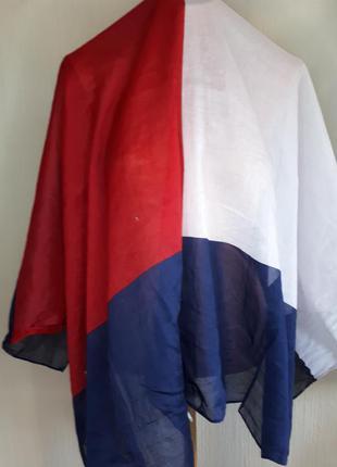 Широкий платок,палантик,шарф коттон tommi hilfiger(100 см на 136 см)