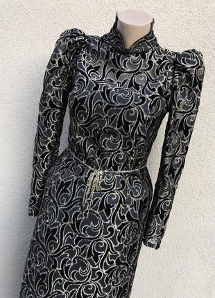Винтаж,бархатное,нарядное,вечернее платье по фигуре,премиум бренд,vera mont