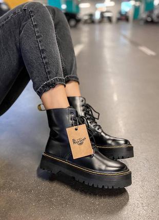 Dr martens jadon black zip (mex) ботинки на меху