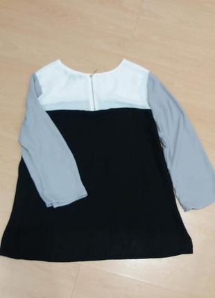 Блуза легкая трехцвет
