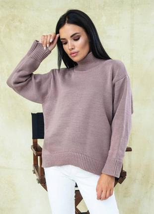 Кофейный свитер свободного кроя