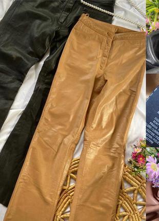 Фирменные стильные качественные натуральные кожаные брюки