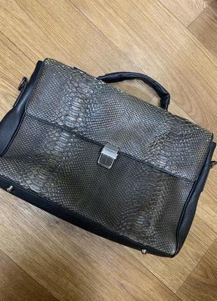 Сумка, портфель кожаный pierre cardin