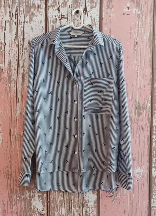 Рубашка с натуральной ткани с принтом