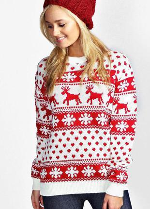 Яркий рождественский свитер boohoo