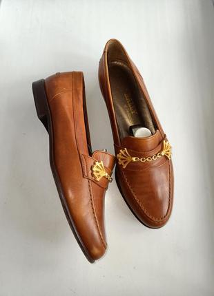 Bally  стильные кожаные лоферы туфли размер 38