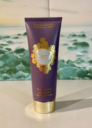 🏴 люкс органика крем для рук abahna lilac rose & geranium 50 мл