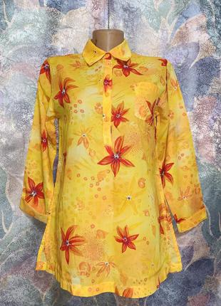 Яркая хлопковая блуза kenzo jungle
