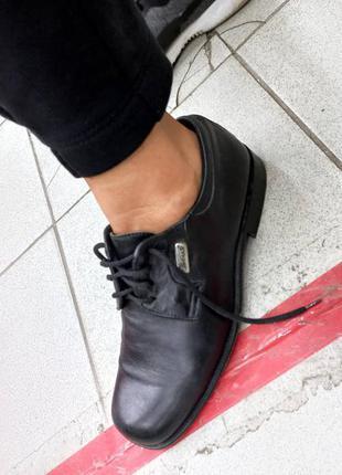 Туфли фирменные кожаные италия