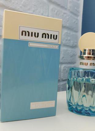 Парфюмированная вода miu miu l'eau bleue