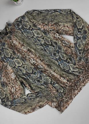 Блуза легкая красивая в питоновый принт next uk 12/40/m