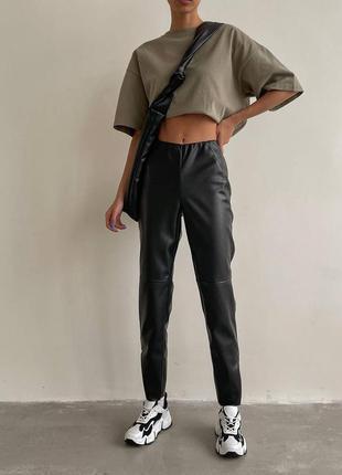 🤩кожаные брюки на флисе