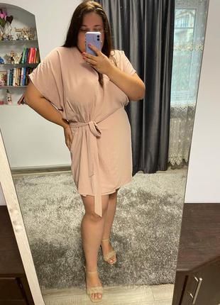 Платье на запах большого размера