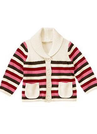 Кардиган свитер gymboree с карманчиками