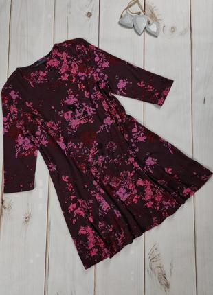 Платье мини новое трикотажное в принт marks&spencer uk 10/38/s