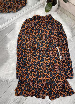 Платье в звериный принт