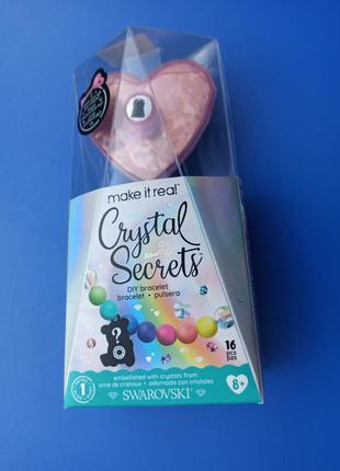Набор для создания шарм-браслетов с кристаллами сваровски make it real кристальный секрет