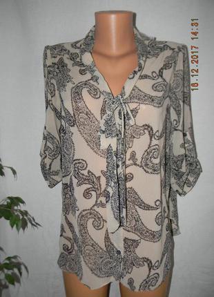 Новая шифоновая блуза с принтом
