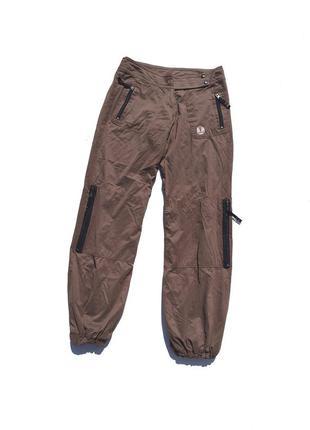 Классные походные серо тёмно коричневые штаны с карманами набедренные