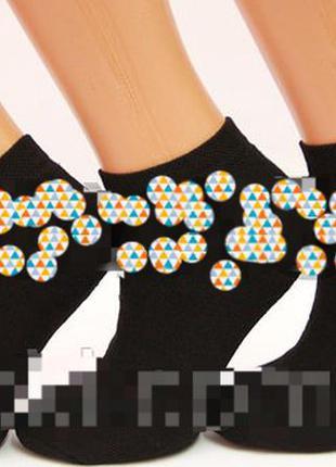 Женские носки махровые короткие с хлопка 36-39 р.12 пар черные