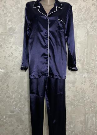 Атласная хлопковая пижама