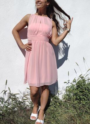 Очень красивое розовое летнее платье naf naf