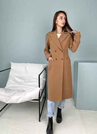 Кашемировое приталенное пальто