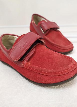 Стильні, нарядні, натуральні замш-шкіра туфлі шалунишка 😍на ліпучках р.26