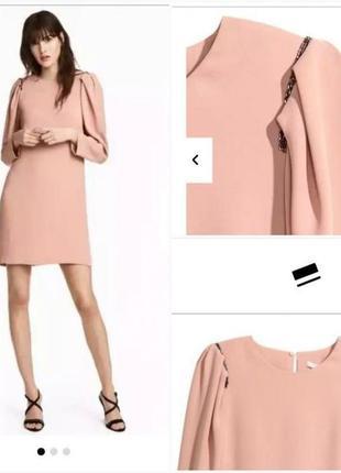 Платье с объемным рукавом h&m p xs-s