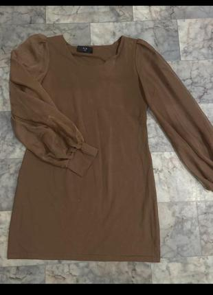 Платье с рукавами фонариками буф