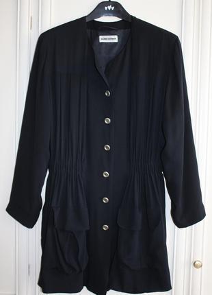 Пиджак длинный шелк винтаж