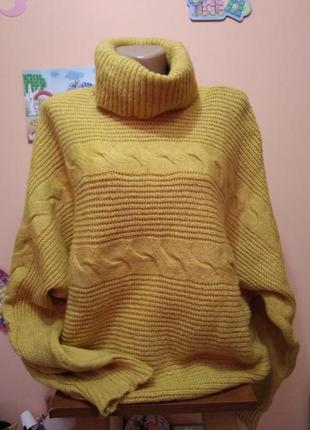 Шикарный свитер оверсайз горчица