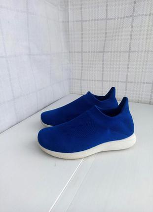 Контрастные текстильные кроссовки  носки цвета электрик, дышащие тканевые кроссы мокасины, кеды