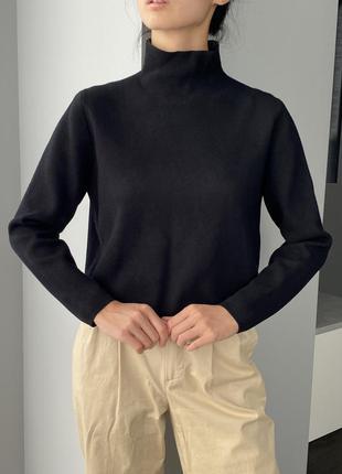 Other stories чёрный гольф свитер с высоким горлом короткий кофта джемпер базовый хс