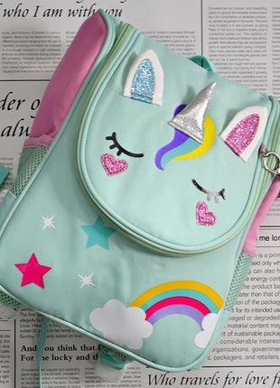 Детский каркасный рюкзачок, рюкзак, подарок, подарунок, динозавр, динозаврик, девочке, дівчинці, єдиноріг, единорог, единорожка, unicorn