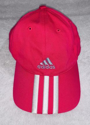 Хлопковая оригинальная розовая кепка adidas